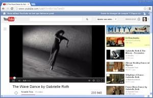 Vue de la vidéo de Gabrielle Roth
